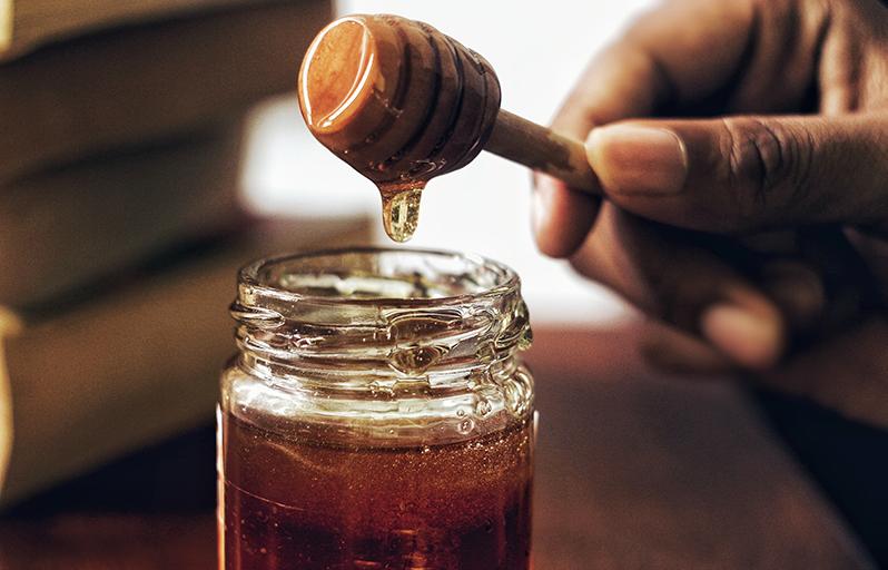 Snabb honungsdessert